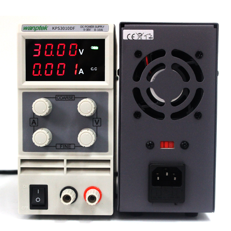 2017 High quality Wanptek KPS3010DF 0 30V 0 10A 110V 230V 0 1V 0 001A Digital