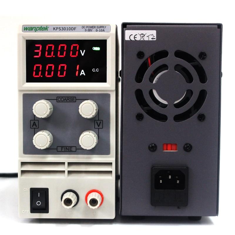 wanptek kps3010df - Wanptek KPS3010DF 0-30V/0-10A 110V-230V 0.1V/0.001A Digital Adjustable mini Switch DC Power Supply mA display