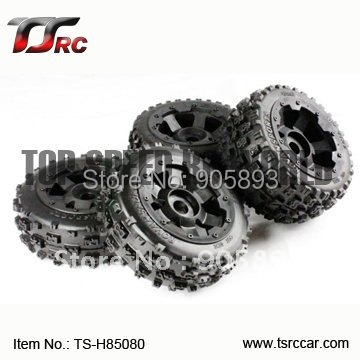 5B Knobby Wheel Set (TS-H85080) x 4pcs for 1/5 Baja 5B, SS , wholesale and retail 5b rear highway road wheel set ts h85030 2 x 2pcs for 1 5 baja 5b ss wholesale and retail