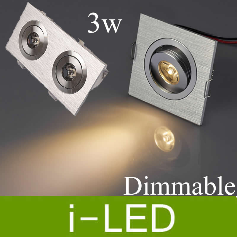 High Power Dimmable Led Downlight 3w 2*3w 3*3 Led recessed cabinet lights lamp 110v 220v warm cold white + driver 3year warranty
