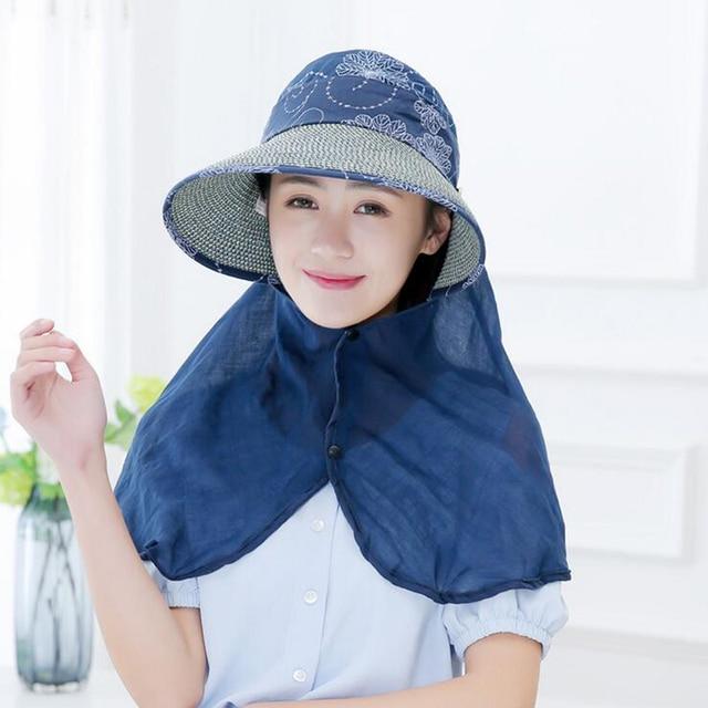7adfe5a5 Sun Hats for women summer sun visor hat with big heads wide brim beach hat  omnibearing