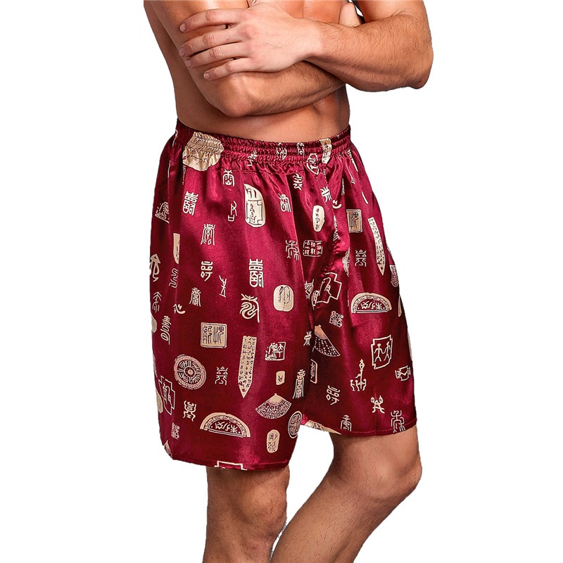 NIBESSER Pajama-Shorts Nightwear Sleepwear Underpants Boxer Satin Silk Sexy Soft Casual