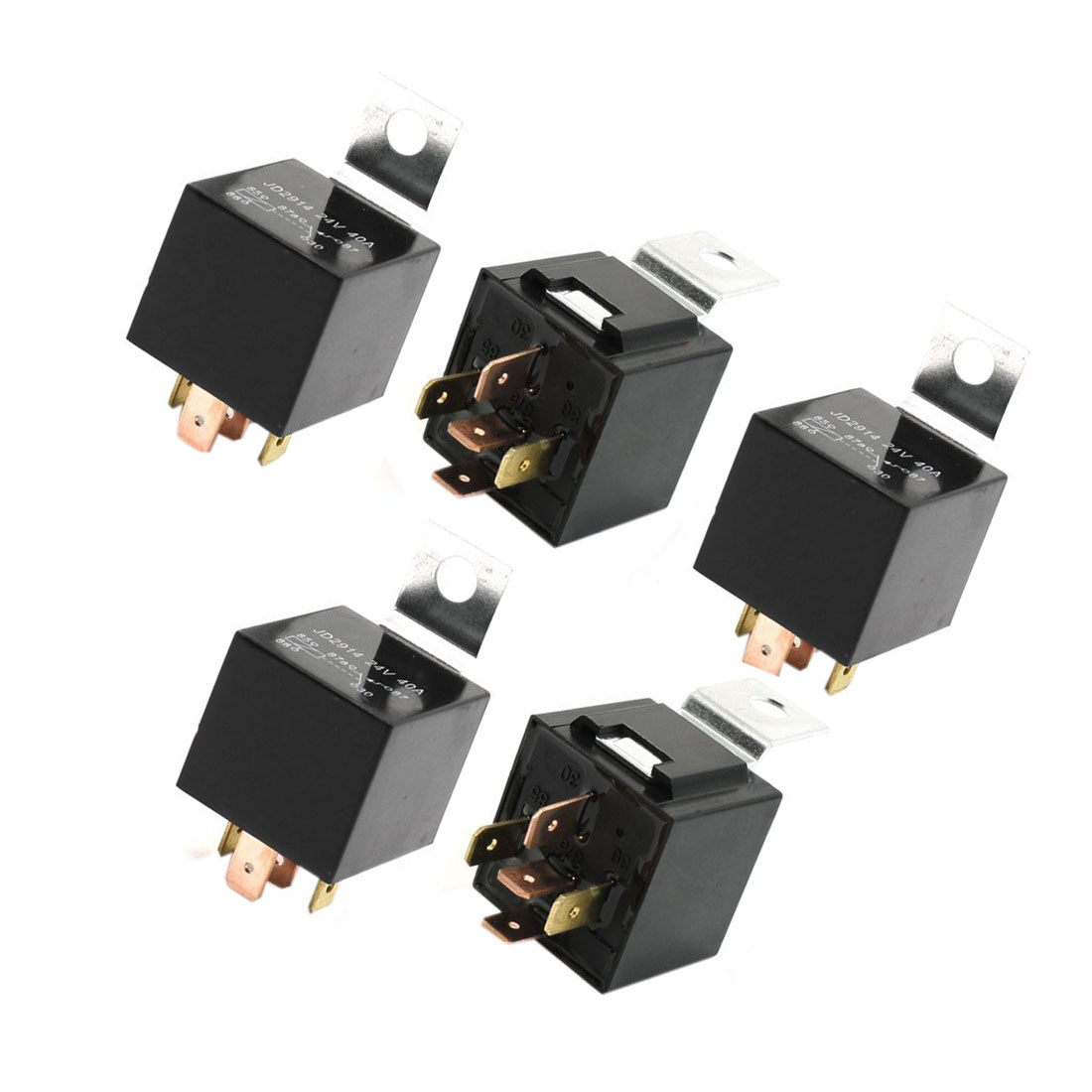 Promotion! 5 Pcs Vehicle Car Auto Relay Switch Power 5-Pin 24 Volts 40 Amp
