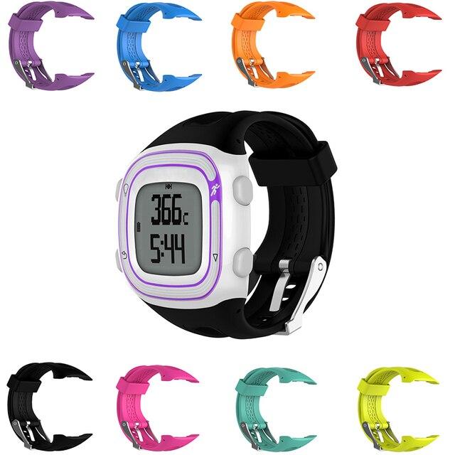 Garmin Forerunner 10 >> 25 And 22cm 2 Size Sports Silicone Watch Strap For Garmin Forerunner