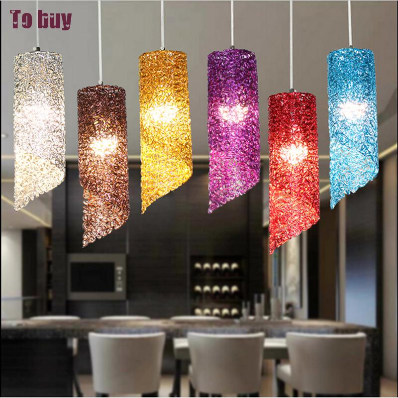 Modern lamps pendant lights aluminum lamp colorful  restaurant bar coffee dining room LED hanging light fixture Lighting philips hr 2162 00 viva collection