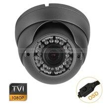 """4 шт. HD TVI 1080 P 1/2. """" металлическая купольная камера 2MP варифокальный 2,8-12 мм объектив экранное меню"""