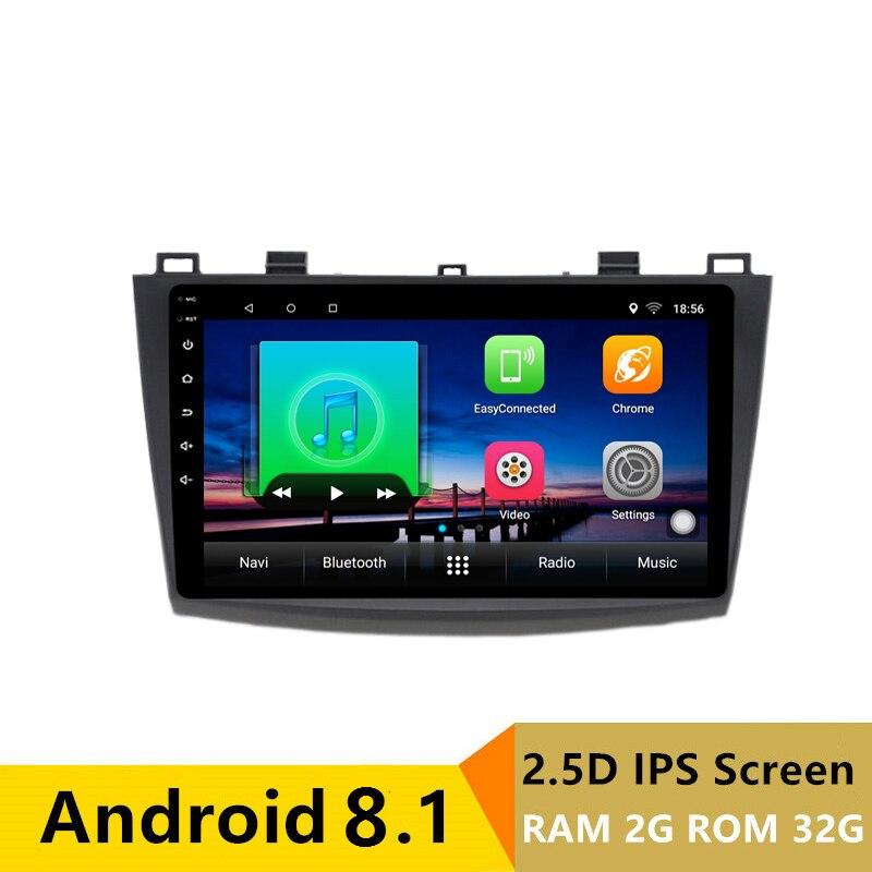 9 2G RAM 32G ROM Android Car DVD Video Player GPS for Mazda 3 Mazda3 2010 2011 2012 2013 audio radio stereo navigation headunit