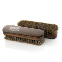 1Pcs Horse hair shoe brush full horse hair, oil polish tool, scrub suede fur, clear leather shoes ash(China)