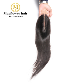 """Mayflower 2X6"""" Kim Lace closure Straight virgin hair Full hand tied with baby hair line No tangle no shedding long parting"""