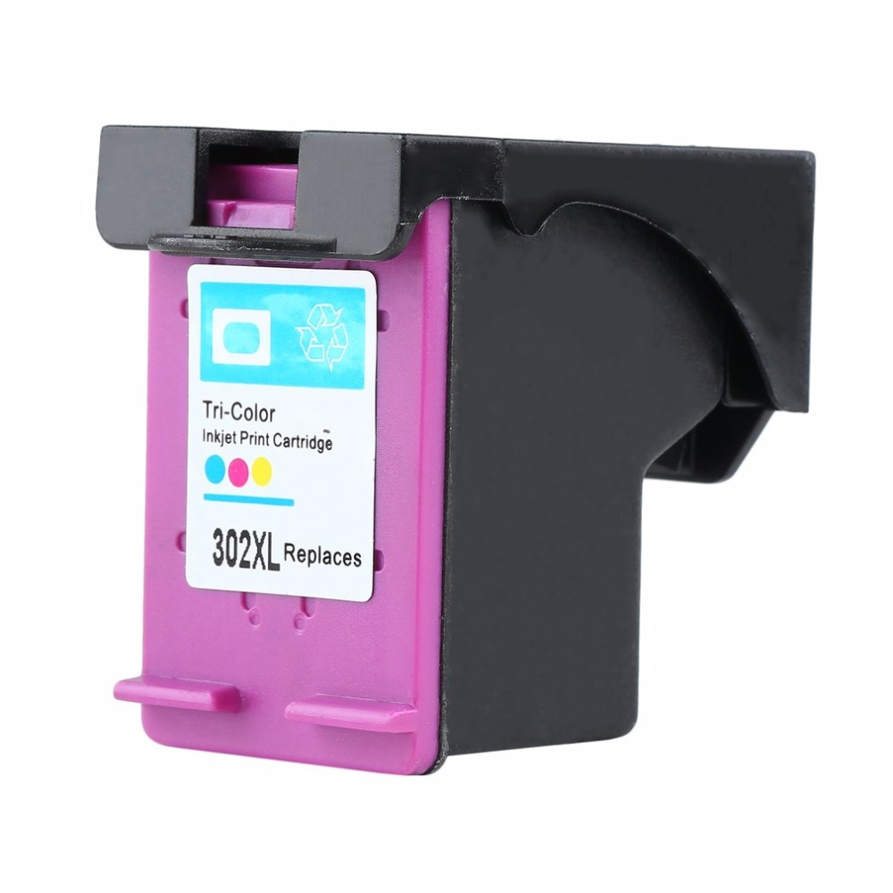 Non-OEM Tri color <font><b>Ink</b></font> Cartridge Replacement For <font><b>HP</b></font> 302 DESKJET 2130 1110 <font><b>1115</b></font> 2134 2135 3630 Envy 4520 4522 4523 4524 image