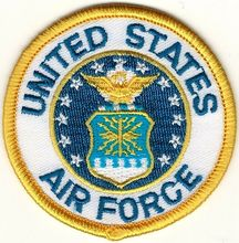 Custom Embroidery Iron on Patch Military USAF United States US Air Force Seal Embroidered