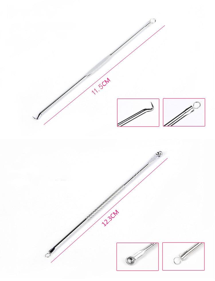 LaMilee 4vnt. / Rinkinys inkštirų spuogų spuogų inkštirų - Įrankių odos priežiūros - Nuotrauka 5