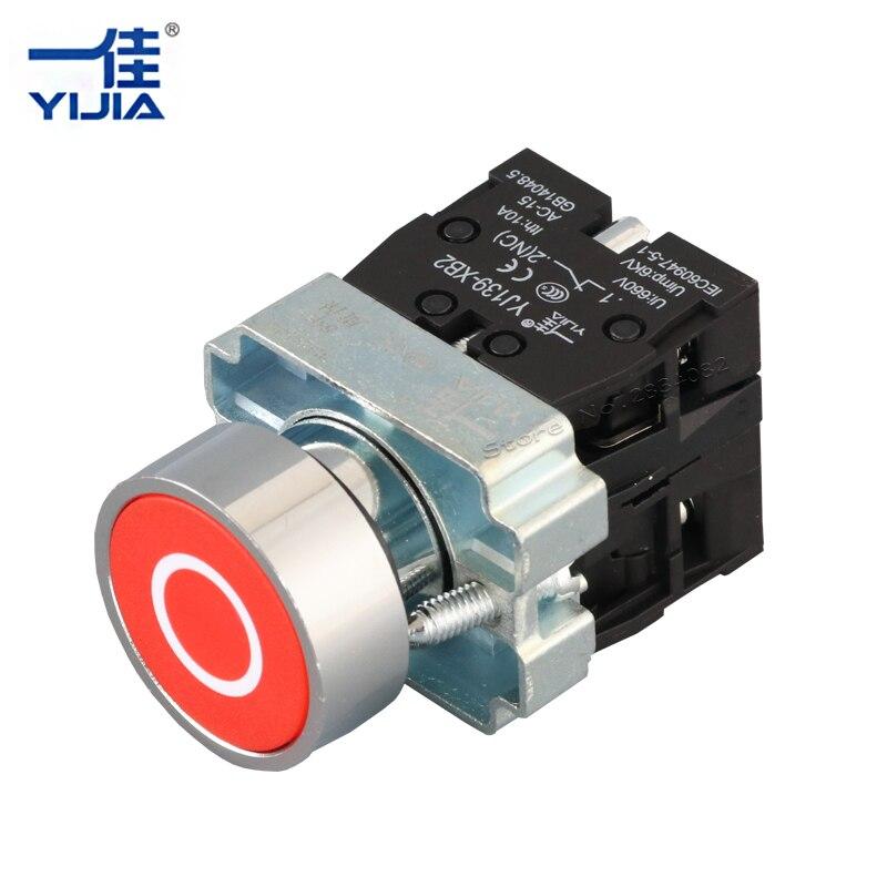Silber kontakt 22mm Momentary Flat Push Selbst Automatische Reset ...