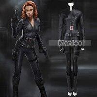 2015 Movie The Avengers 1 Black Widow Natasha Romanoff Cosplay Costume Superhero Black Widow Costume Halloween
