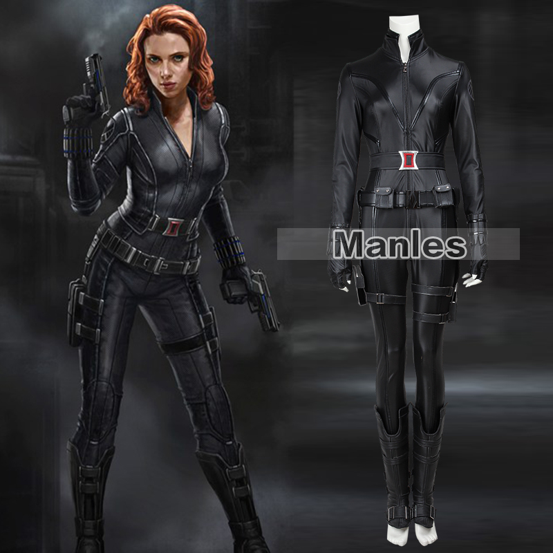 Film The Avengers 1 Black Widow Natasha Romanoff Cosplay Superhero Black Widow Kostüm Halloween-kostüm für Frauen