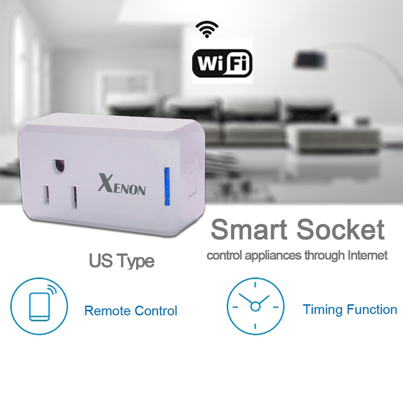 Xenon Smart Plug Mini,No Hub Required,Wi-Fi,Works with Amazon Alexa Control your Devices from Anywhere Occupies Only One Socket xenon wi fi bulb smart wreless bulb app control rgb e27 led lamps hot sale smart led lighting bulbs works with amazon echo alexa