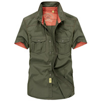 Air Force One Men S Shirt Military Style Shirts For Men Camouflage Army Shirt Short Sleeve