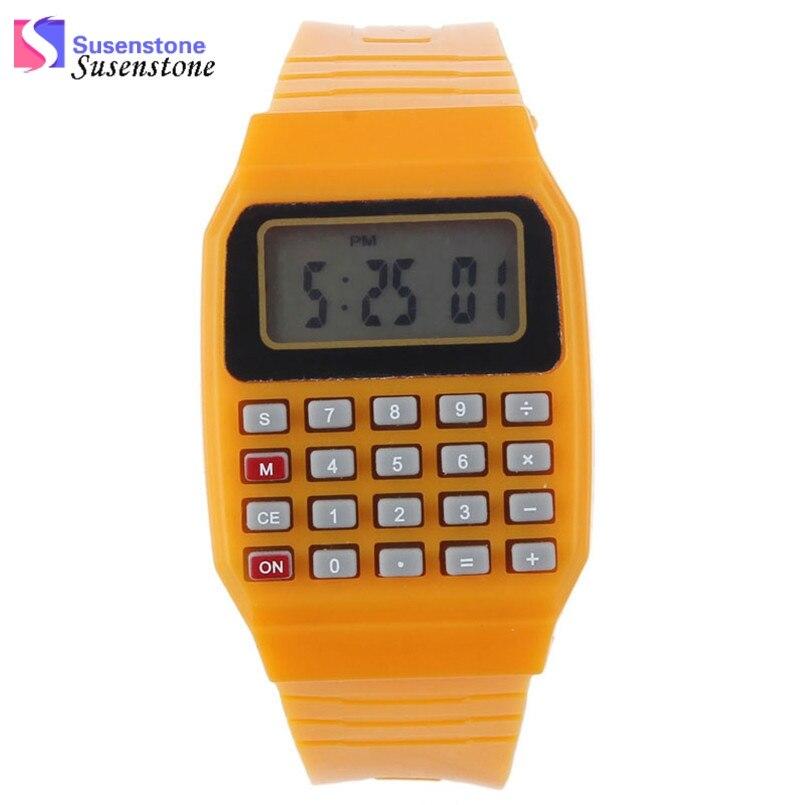 New Fashion Design Unisex Sport Watch Silicone Multi-Purpose Date Time Electronic Wrist Calculator Boys Girls Children Watch  герметик силиконовый bostik multi purpose silicone a 0 28л прозрачный