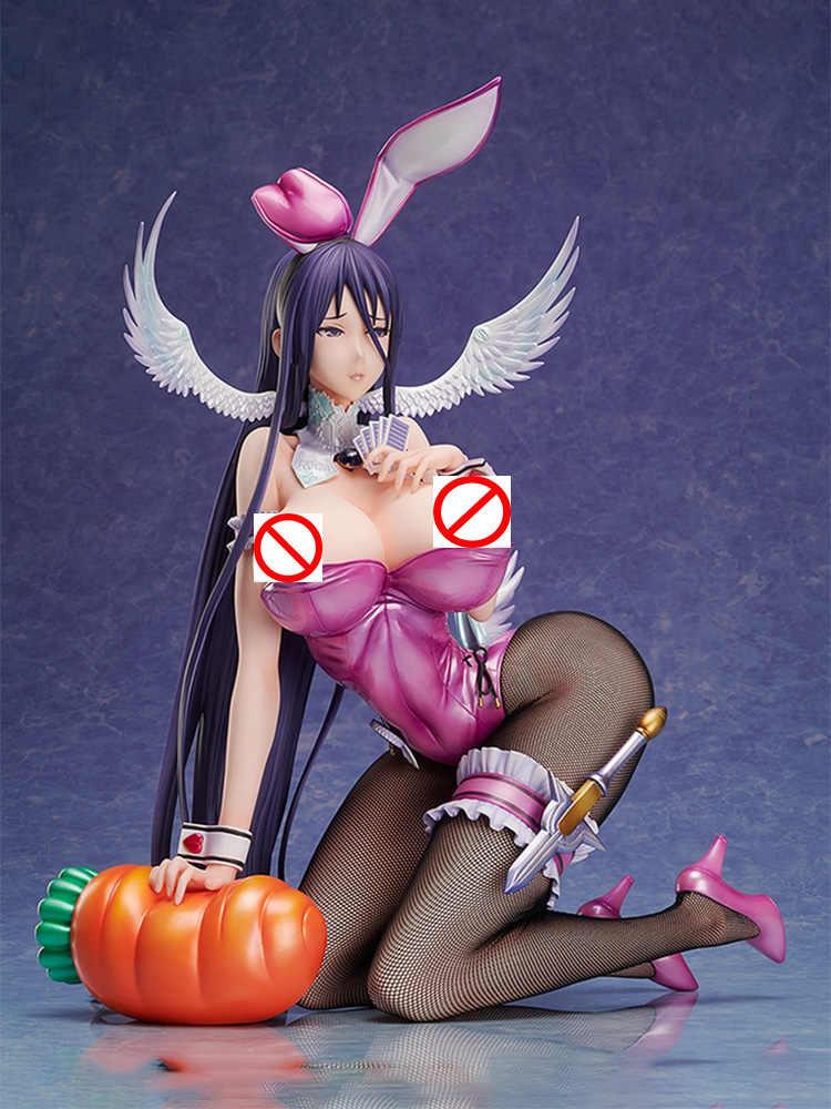 BINDing Native Sexy Girl Figure Pure white Magical girl RAITA Misa Suzuhara Bunny Ver. PVC Action Figure Anime Figure Model Toys