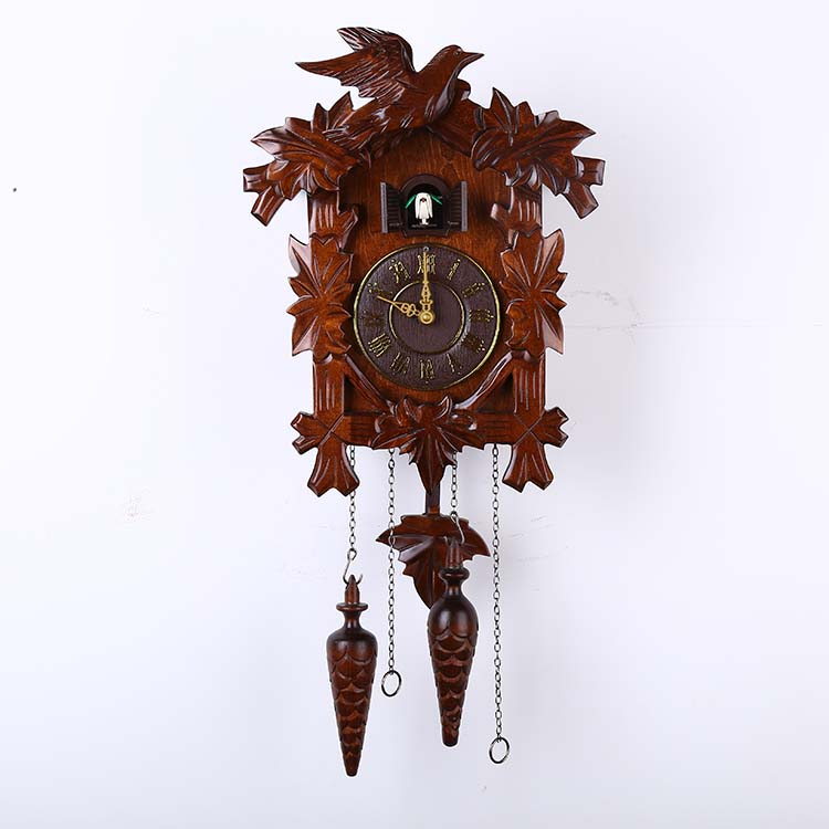 6022 Classic Bird Cuckoo Clock Handmade Wood Sculpture