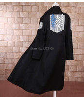 Cheap Japanese Anime Shingeki No Kyojin Attack On Titan Cosplay Costume Dust Coat The Long Cloak