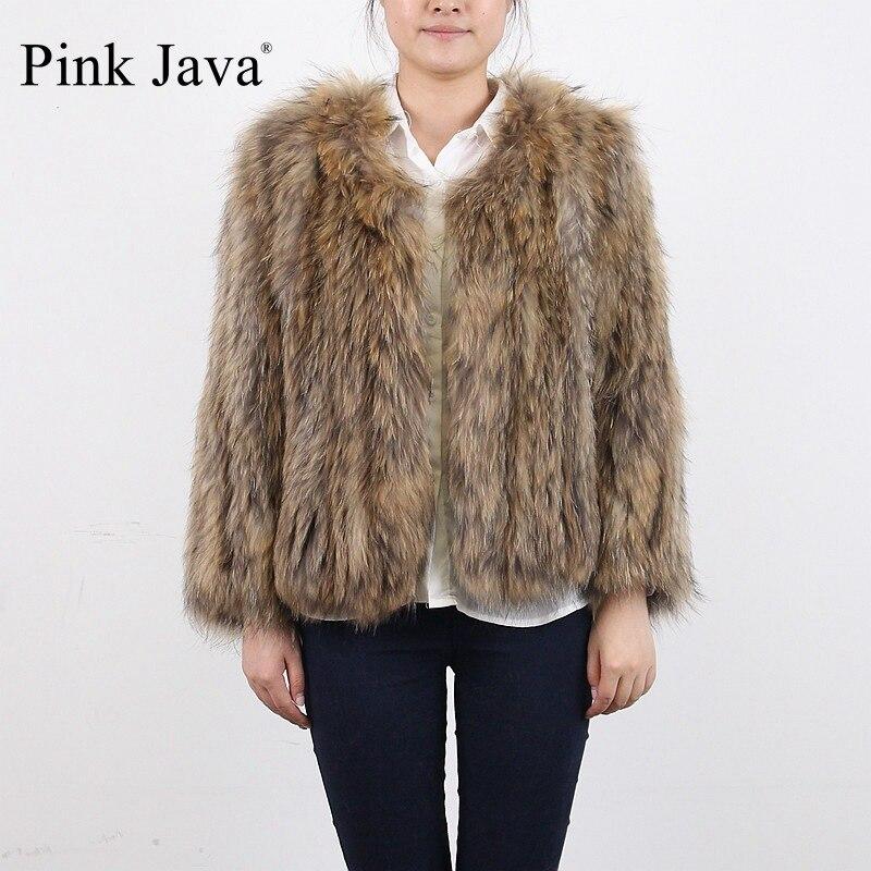 Kompetent Rosa Java Qc8037 Echt Marderhund Pelz Gestrickte Jacke Mantel Pelze Für Frauen Hohe Qualität Dicken Pelz Mode Großhandel