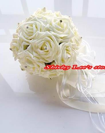 Novo !!! 8 X vrtnice iz čudovite pene iz diamante neveste cvetlični - Prazniki in zabave - Fotografija 5