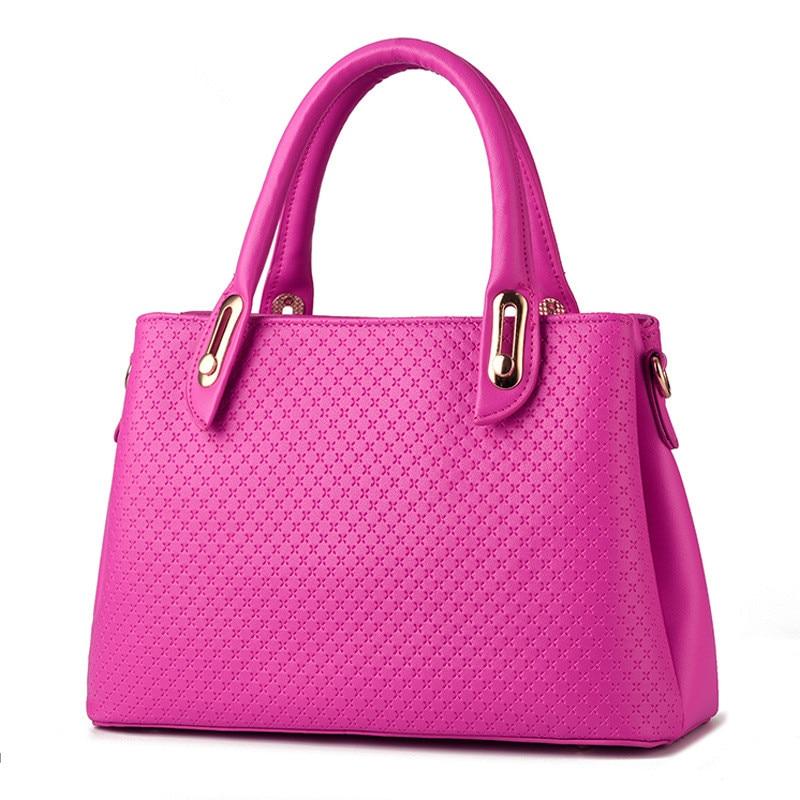Fuchsia Embossed PU Women Bag Shoulder Bag Elegant Casual Lady Handbag raslov пальто raslov ra 193 fuchsia