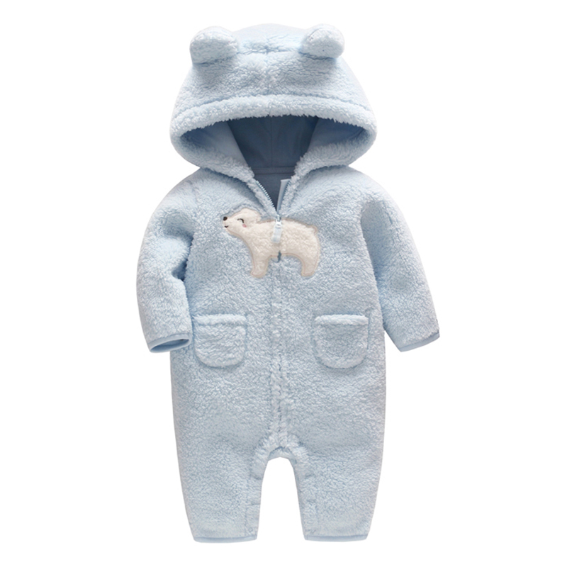 Newborn baby romper Spring costume baby boys clothes Coral Fleece warm baby girls clothing Animal Overall baby rompers jumpsuit puseky 2017 infant romper baby boys girls jumpsuit newborn bebe clothing hooded toddler baby clothes cute panda romper costumes