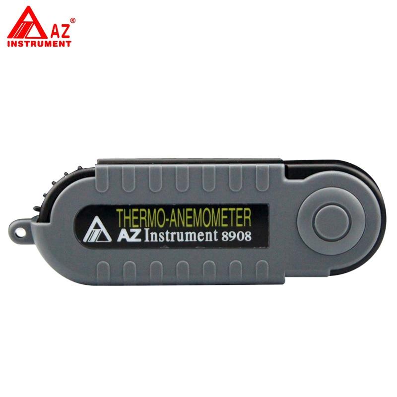 ФОТО AZ-8908 Digital Handheld Pocket Wind Speed Meter Anemometer
