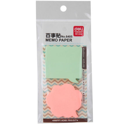 Deli 6405 10packs 80 sheets Korean Sticky Notes Creative Post Notepad Filofax Memo Pad Office Supplies School Stationery Scratch