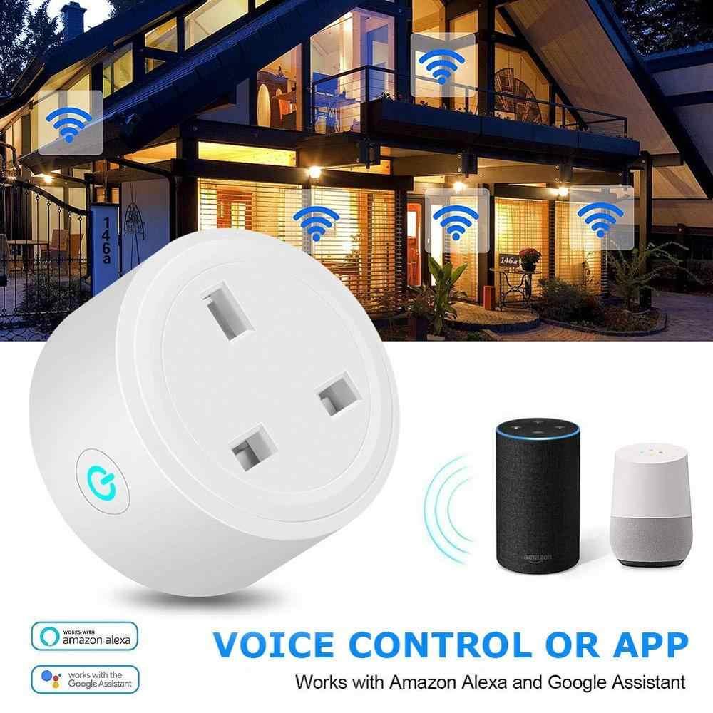 Wifi inteligentne gniazdo Mini UK wtyczka zasilania Monitoring energii rozrządu przełącznik sterowania Outlet Alexa Google IFTTT sterowania głosem inteligentne życie