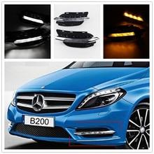 Светодиодный Габаритные огни DRL светодиодный противотуманных фар для Mercedes-Benz B-CLASS W246 B180 B200 2011 2012 2013 2014