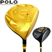 POLO New Golf Gold Clubs männer Holz Guss Titan Abschlag TY006M-1 # Golf Club Baumwolle Garn Grip 1 Holz Männer Graphitschaft SR