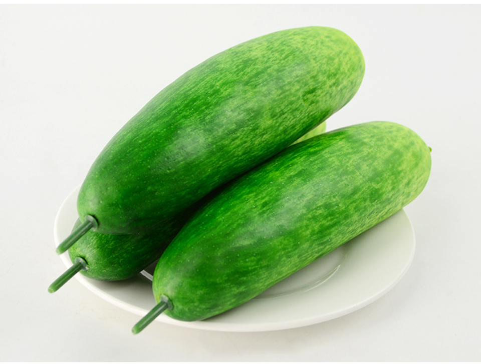 050 Simulation of plastic fruit and vegetable decoration props fruit decoration model fake cucumber 20 5 2cm in Artificial Foods Vegetables from Home Garden