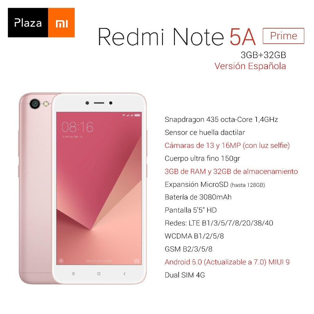 Spanish Version Xiaomi Redmi Note 5A Prime 3GB RAM 32GB ROM