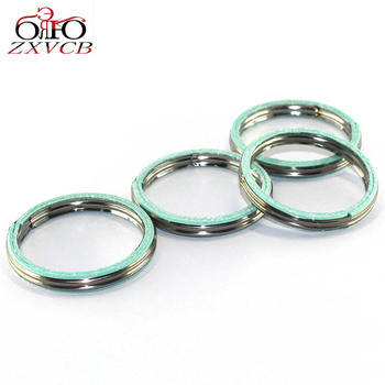 Exhaust motorcycle 4 PCS FOR YAMAHA YZ/DT/MX/RT 80/100/125 YZ80 DT100 MX100 RT100 YZ100 DT125 Exhaust Pipe Header Gasket