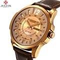 Mais nova marca de Luxo JULIUS Homens de negócios Relógios Moda casual Relógios de Quartzo Relógio Militar relógios de Pulso masculinos JA-017