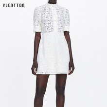 Summer New Sexy Lace Womens Dresses Diamonds Embroidery White Party Dress Short sleeve Bodycon Mini A-Line Women Vestidos