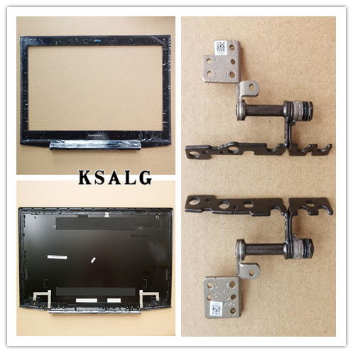 New Original For Lenovo Y50 Y50-70 15.6 LCD Top Back Cover Rear Lid + Bezel No Touch Hinge Set AM14R000400 AM14R000900