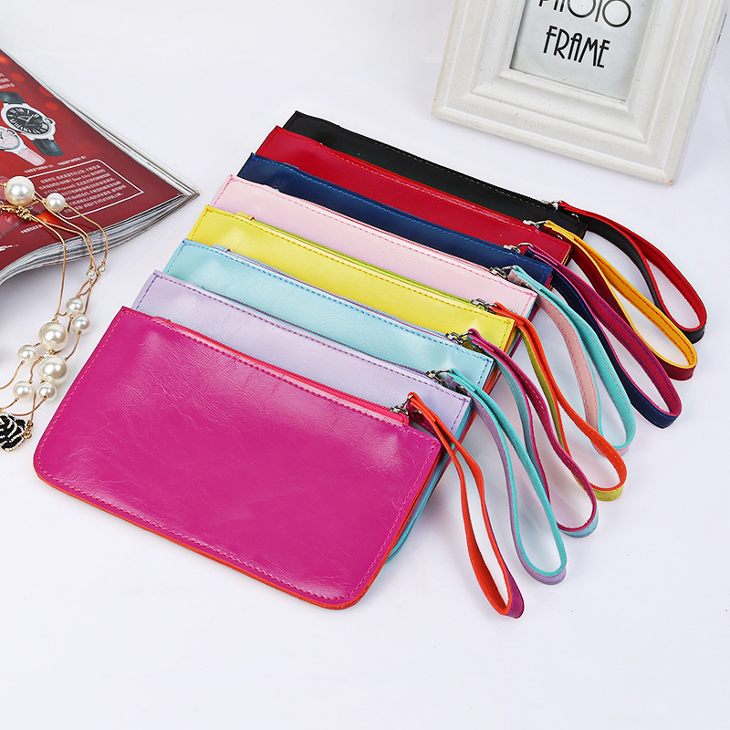 Women Wallets Ultra Thin Credit Wallet Women Luxury Brand Clutch PU Leather Money Clip Lady Purse Coins Fashion(China)