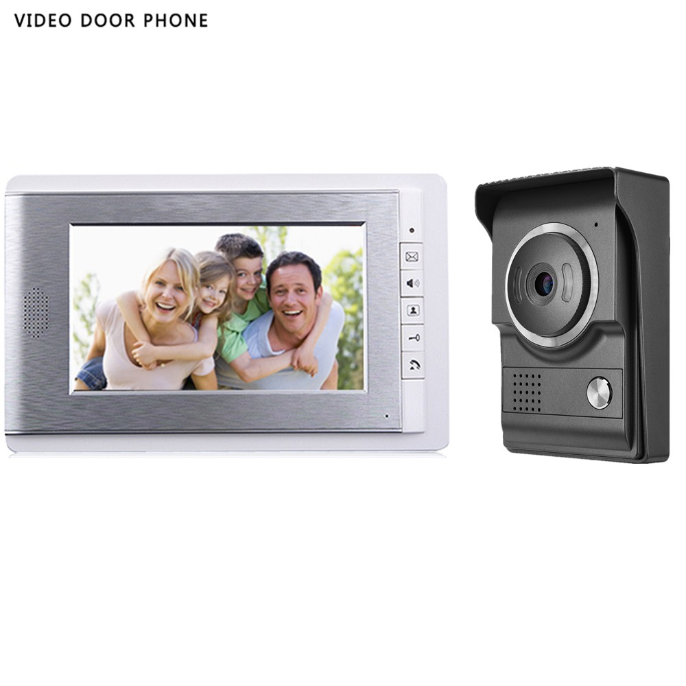 2017new stype 7INCH Video DOORPhone Intercom System TFT-LCD Color Screen Monitor Night Vision HD outdoor panel video DoorBell aputure digital 7inch lcd field video monitor v screen vs 1 finehd field monitor accepts hdmi av for dslr