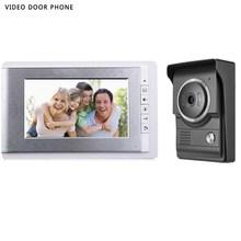 цены 2017new stype 7INCH Video DOORPhone Intercom System TFT-LCD Color Screen Monitor Night Vision HD outdoor panel video DoorBell
