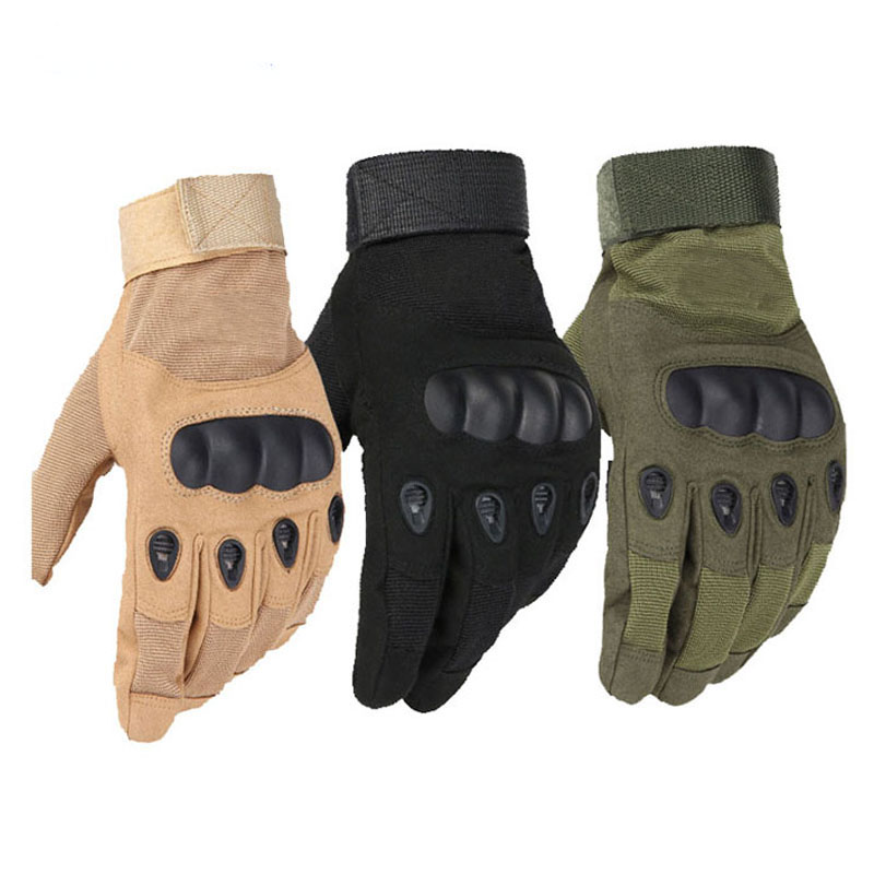 Outdoor Sports Tactical Gloves Full Finger For Hiking Riding Cycling Military Men's Gloves Armor Protection Shell Gloves