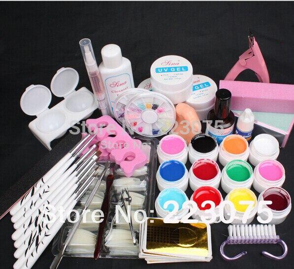 ᑎ‰NEW Pro 12 Color UV Gel 8 Zebra Brush Nail Tips Nail Art Tool ...