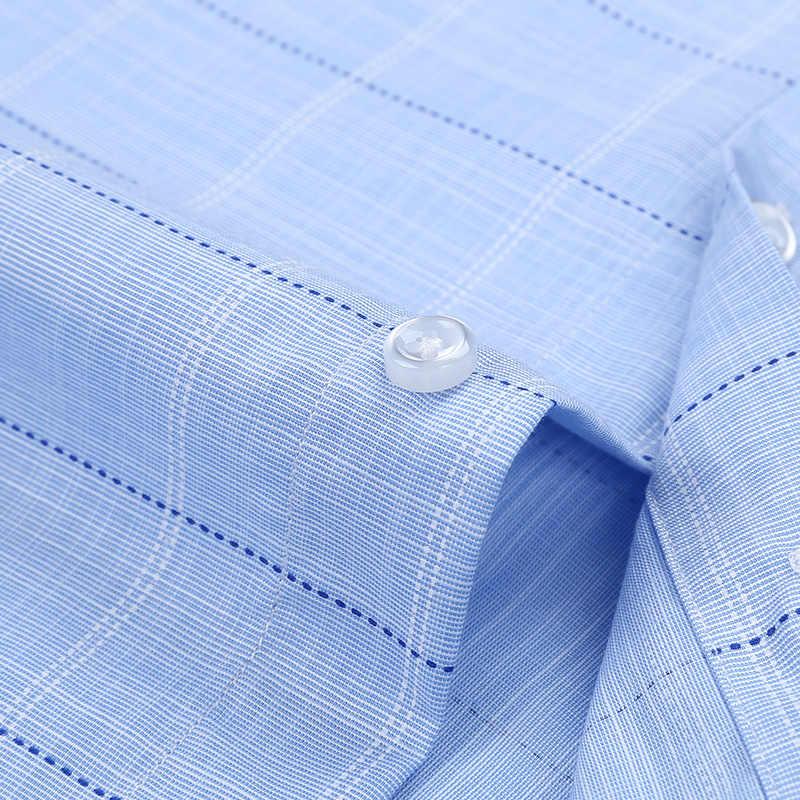 2019 ファッション夏のビジネス男性カジュアルシャツ高品質チェック男性チェック柄半袖シャツ綿 100% シュミーズオム