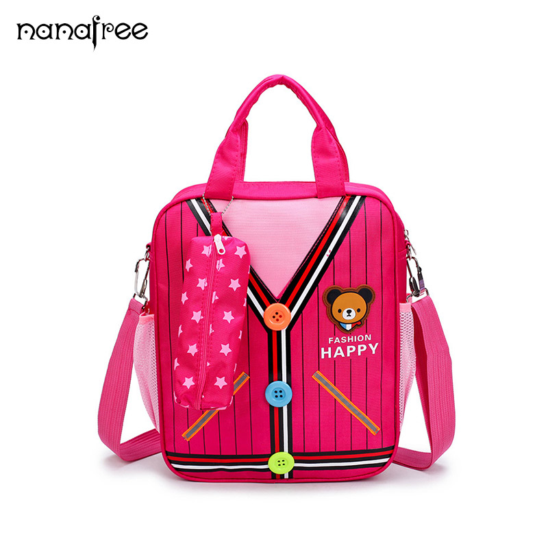 Nanafree 2018 New kids cartoon 3D School bag Children cute school bag Kindergarten Shoulder Bags Simulation Clothes Schoolbag