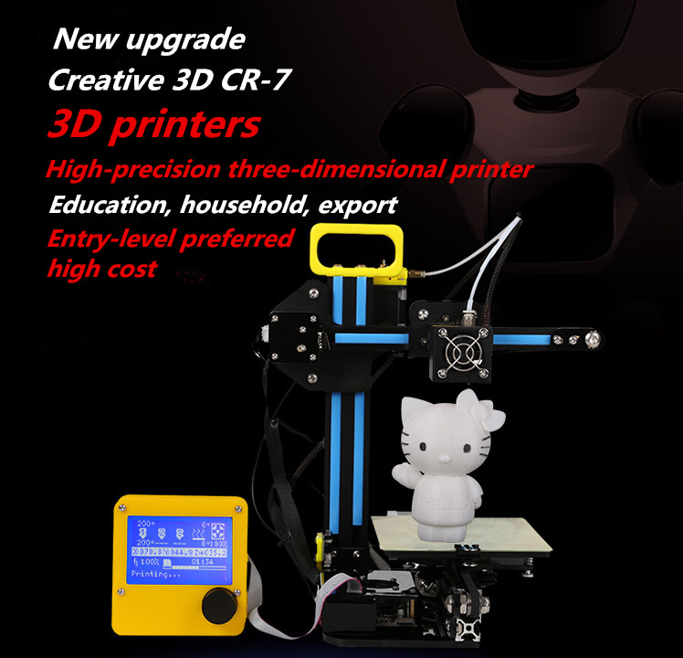 Newest Design Creality CR 7 Mini 3D Printer Self assembly 3D Printer Fast DIY Your Own