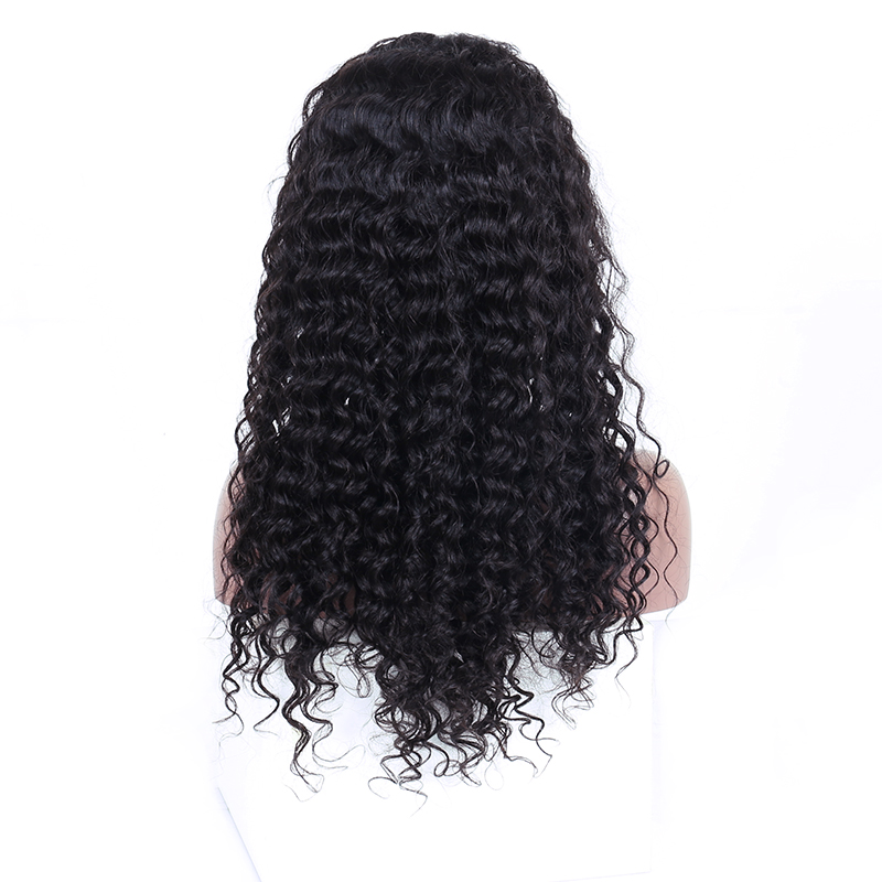360 Lace Frontal Wig Pre Plucked With Baby Hair Brazilian Deep Wave Lace Front Human Hair Wigs For Women Natural Black Remy CARA