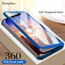 360 Full Protective Cover for Xiaomi Mi 9 8 SE 5X A1 6X A2 Lite Mix 2 Max 2 3 Redmi 6a Note 7 6 5 Pro Hard Case + Tempered Glass(China)